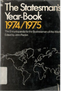 The Statesman' s Year - Book 1974 / 1975,  Statistical And Historical