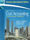 Cost accounting : a managerial emphasis