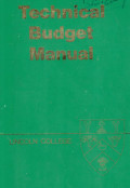 Technical budget manual